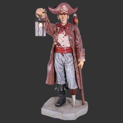 Pirate With Lantern Life Size 3D Realistic Figure