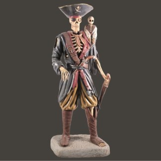 Skeleton Pirate Monkey Life Size 3D Realistic Figure