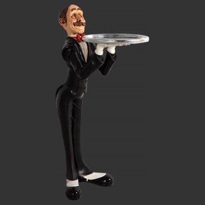 Skinny Butler With Tray 3D Realistic Figure