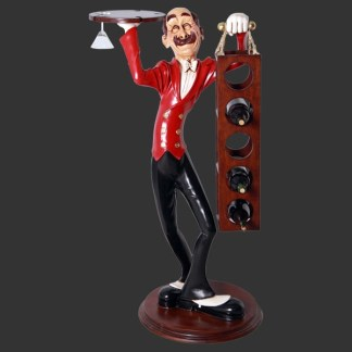 Skinny Wine Waiter 3D Realsitic Figure