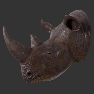 Rhinoceros Head 3D Realistic Wall Decor