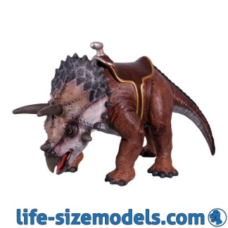 Triceratops 2ft Statue with Saddle