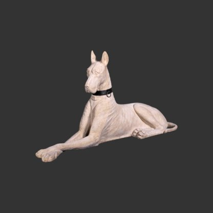 Great Dane Statue Stone Style Finish Realistic 3D Dog Statue