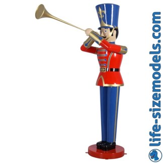 Toy Soldier 9ft with Trumpet 3D Realistic Lifesize Christmas Model