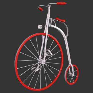 Penny Farthing 2D Realistic Wall Decor Model