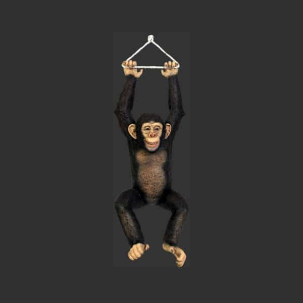 Hanging Chimpanzee Statue - Lifesize : Models - Props - Art Trails - Events  - Attractions