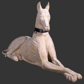 Great Dane Statue life size stone effect dog statue