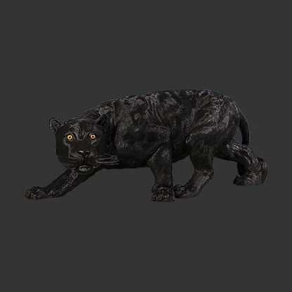 Shadowed Predator Life Size Panther Statue