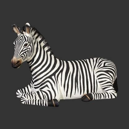 Zebra Resting Statue 3D Realistic Life Size Wild Animal Model