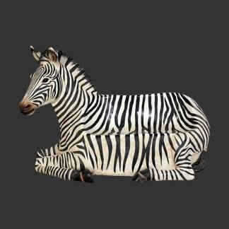 Zebra Seat Statue 3d Realistic Life Size Wild Animal Bench