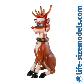 Funny Reindeer 7ft Figure 3D Realistic Lifesize Christmas Model