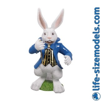 White Rabbit 3D Alice in Wonderland Figure