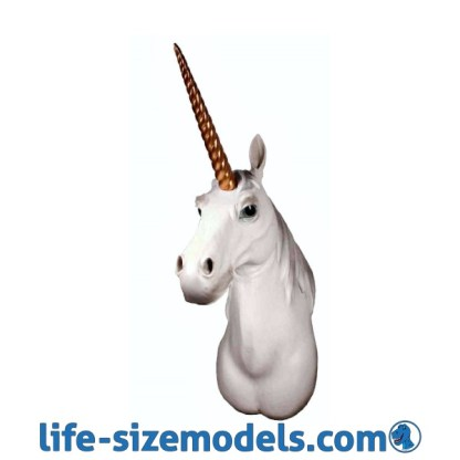 Unicorn Head Realistic Lifesize Animal Head