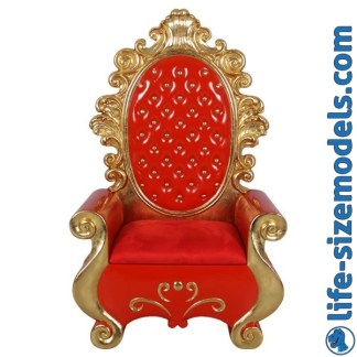 Santa's Throne-Red 3D TRealistic Lifesize Model