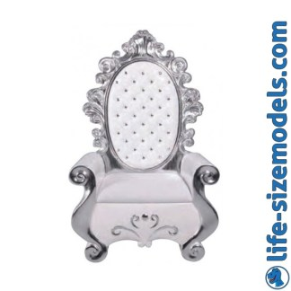 Santa's Throne White 3D Realistic Lifesize Model