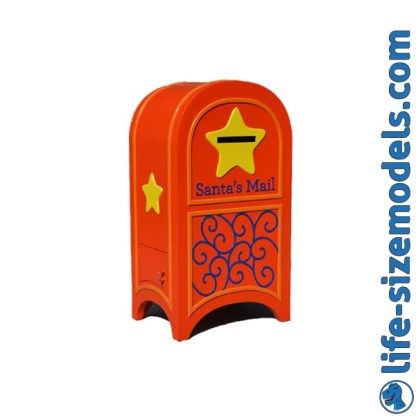 Mailbox Red & Gold 3D Realistic Christmas Model