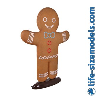 Gingerbread Man 6ft Figure 3D Realistic Christmas Prop
