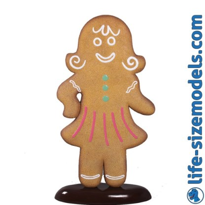Gingerbread Woman 3D Realistic Christmas Prop