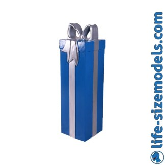 Blue & Silver Gift 3D Realistic Lifesize Model