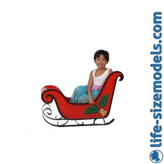 Sleigh with Mistletoe 3D Realistic Christmas Model