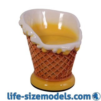 Ice Cream Chair 3D Realistic Advertising Model