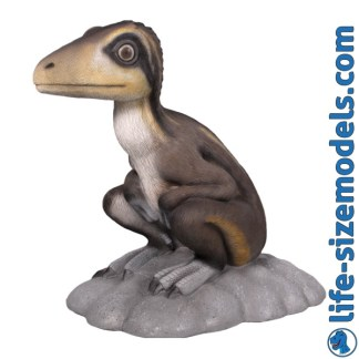 Theropod Sitting Statue 3D Realistic Lifesize Dinosaur Model