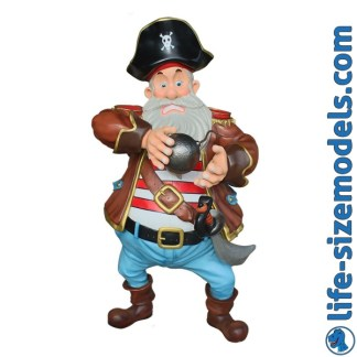 Pirate Cannonball Figure 3D Realistic Lifesize Model