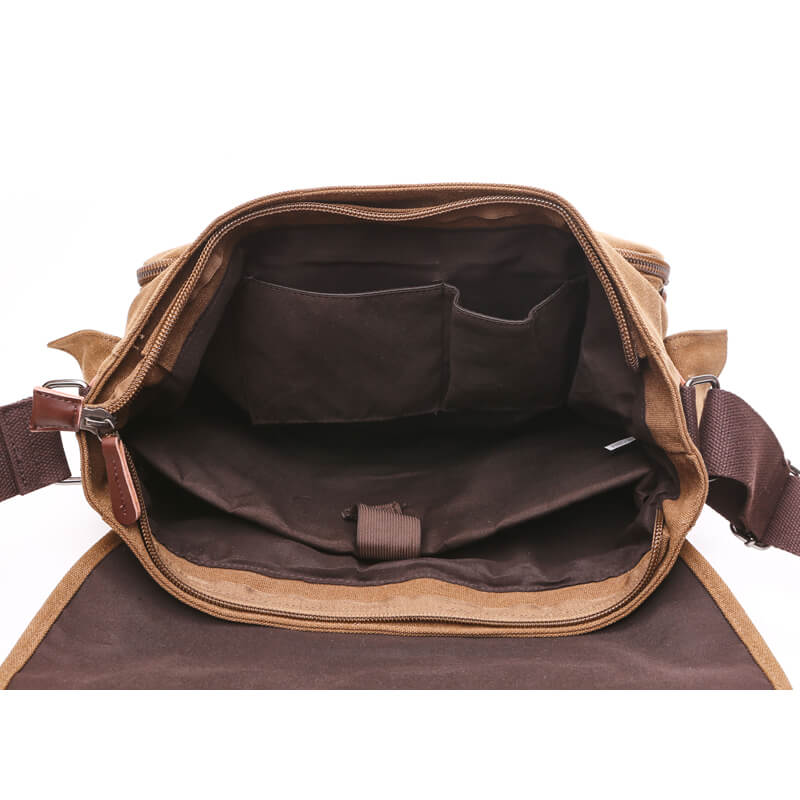 Canvas Leather Satchel Messenger Bag College Laptop Shoulder Bag for Women  and Men df1e5885248da