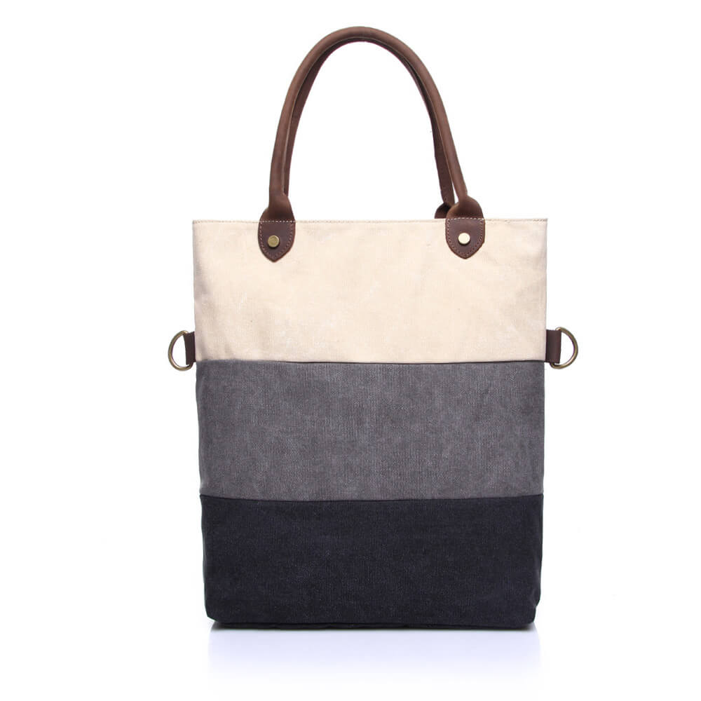 kid factory outlets on feet at Contrast Colors Canvas Tote Shoulder Bag Women Handbag Reusable Grocery Bag  Shopping Bag