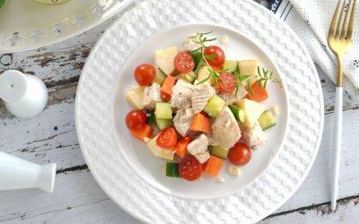 雞肉料理 炎夏開胃涼拌蘋果雞丁
