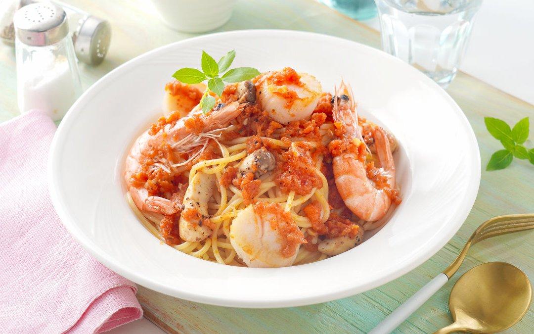 義大利麵料理 海鮮紅醬義大利麵