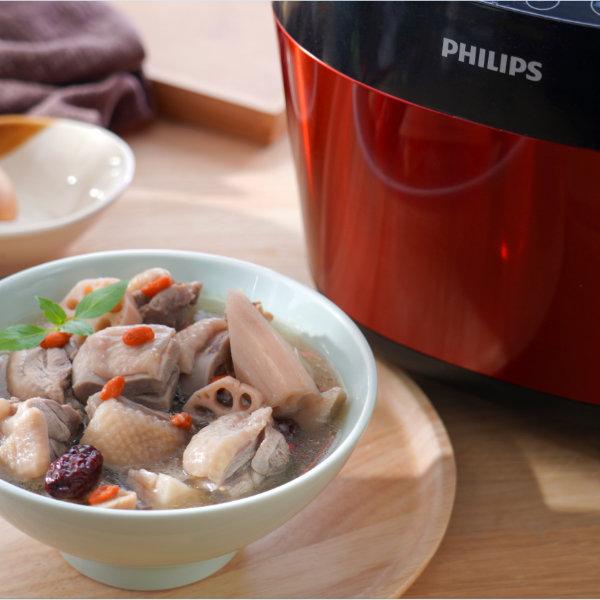 蓮藕紅棗雞湯-藥膳-飛利浦智慧萬用鍋-600