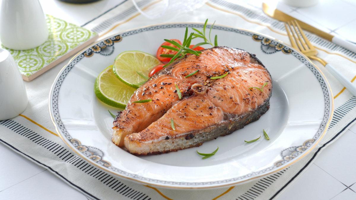 鮭魚料理-香煎鮭魚
