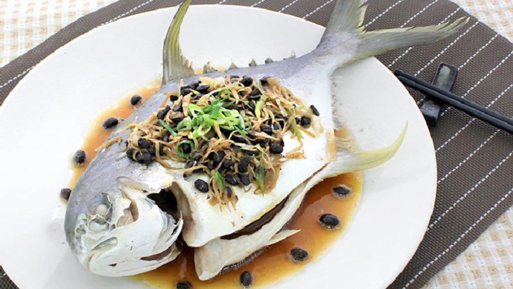 豆豉蒸金鯧魚-海金鯧料理