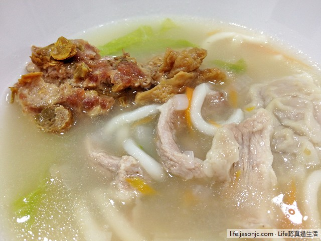 腸胃炎料理:肉絲破布子麵條搭花生麵筋 - Life認真過生活