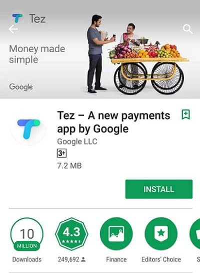 Google Tez Payment App in India