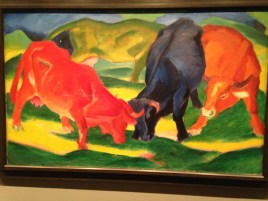 Fighting cows - Franz Marc