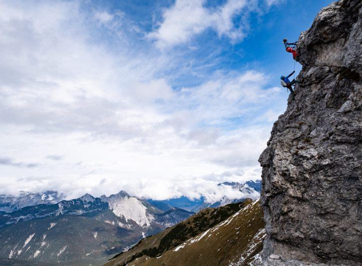 Beim Klettern auf die Seefelder Spitze Seefe
