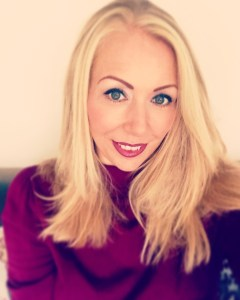 Samantha Walsh wearing burgundy jumper