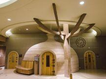 A dry sauna at Island Spa. ~Courtesy of Island Spa