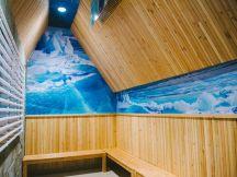 Ice Island sauna at Island Spa. ~Courtesy of Island Spa