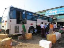 Bus station in Yangon