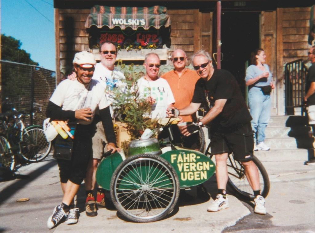Phil outside Wolski's Tavern on the Fat Tire Tour of Milwaukee
