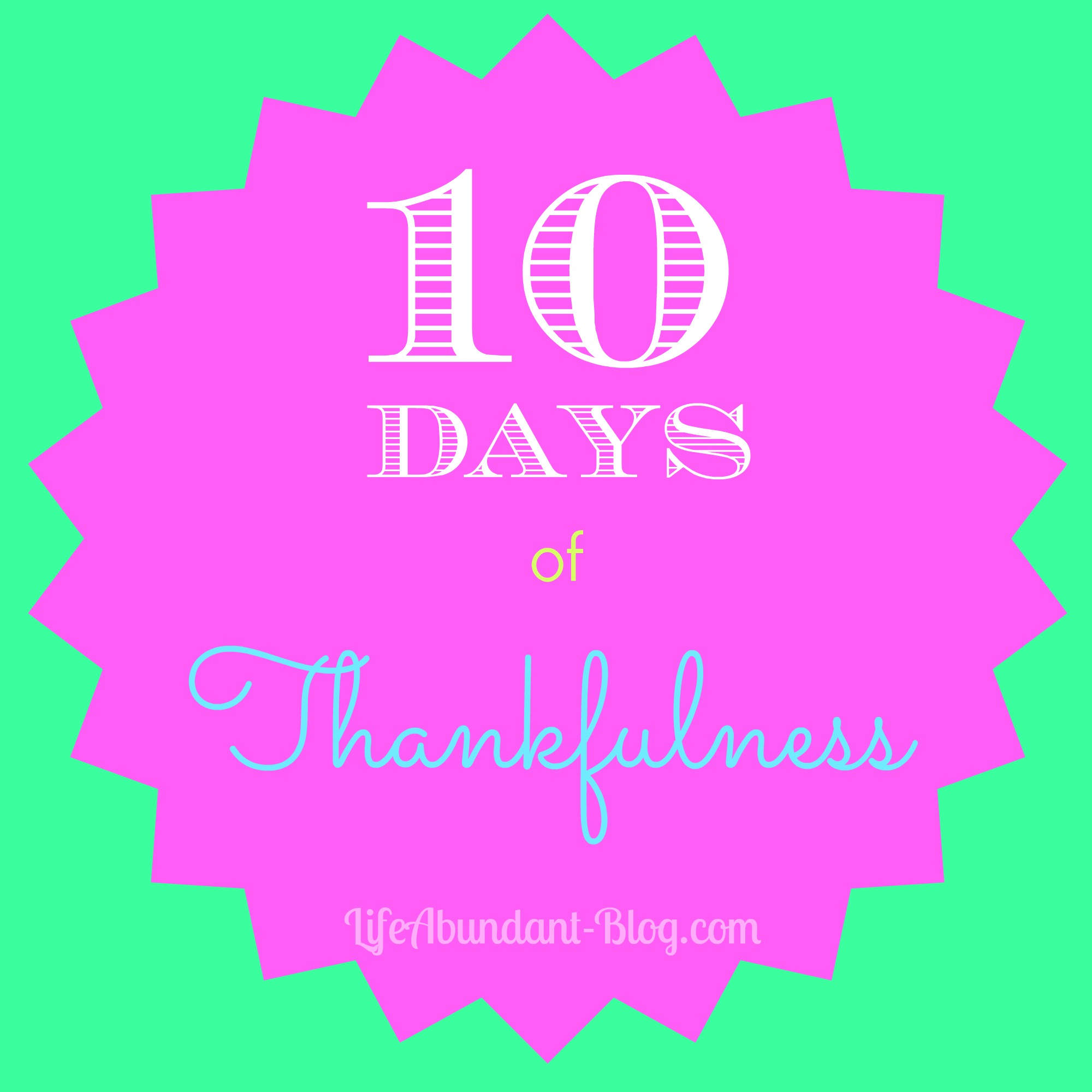 10 Days of Thanks