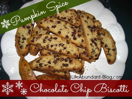 Pumpkin Spice Chocolate Chip Biscotti