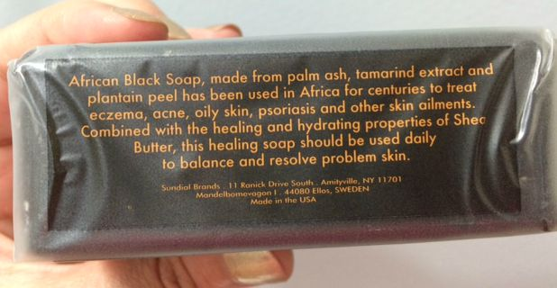 African Black Soap - side 2