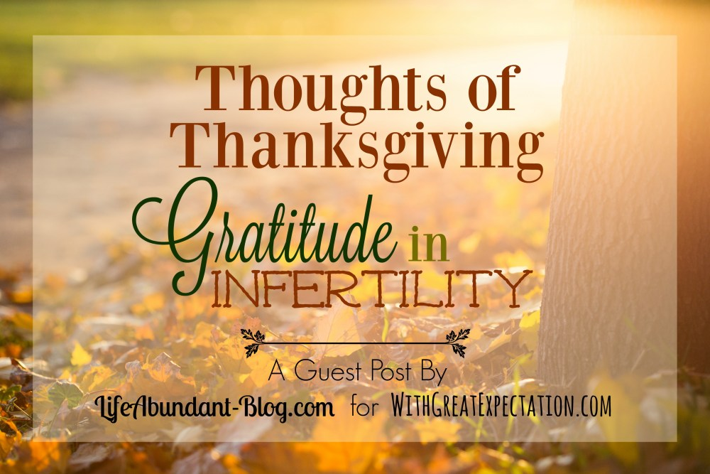 Gratitude in Infertility