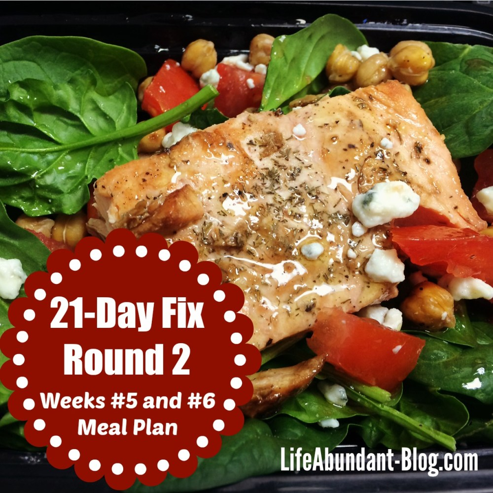 21-Day Fix Round 2 Meal Plan