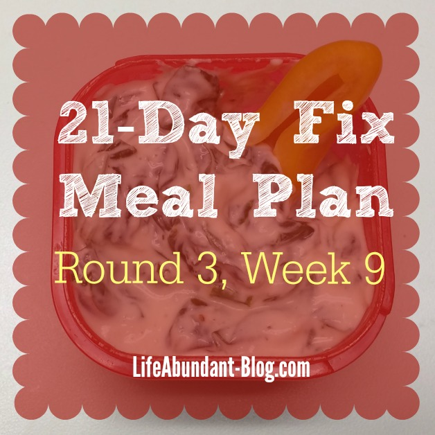 21-Day Fix Meal Plan week 9 IG