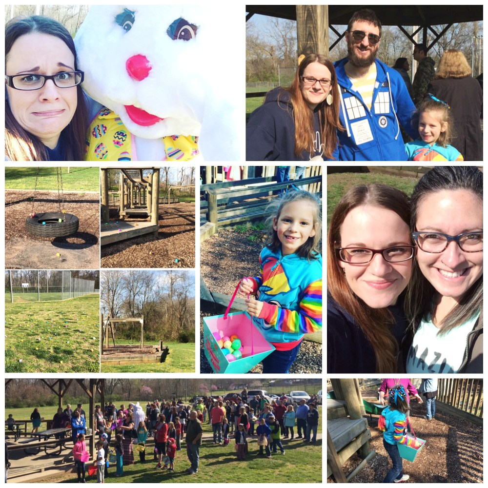Easter Egg Hunt 2016 collage